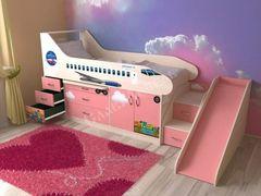 Детская кровать Детская кровать СлавМебель Самолёт (розовый)