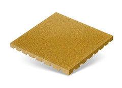 """Резиновая плитка Rubtex Плитка """"Грунт"""" 500x500 (толщина 40 мм, желтая)"""