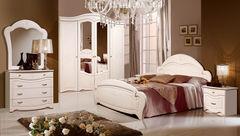 Спальня Слонимдревмебель Лилия 4-д (белая, золото)