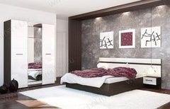Спальня Горизонт Ненси (венге/белый глянец)
