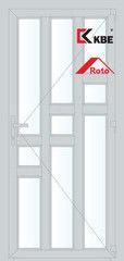 Дверь ПВХ Дверь ПВХ KBE 900*2100 одностворчатая  Модель 100
