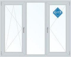 Окно ПВХ Veka 2060*1420 1К-СП, 5К-П, П/О+Г+П