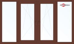 Балконная рама Балконная рама Brusbox 2900*1450 1К-СП, 4К-П, Г+П/О+П/О+Г (односторонняя ламинация)