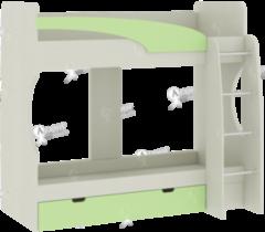 Двухъярусная кровать Атлант Карамель 77-2 (зеленый)