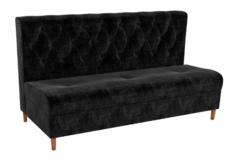 Кухонный уголок, диван Mebelico Бремен (вельвет люкс черный)