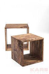 Журнальный столик Kare Cube Rodeo (2/Set) 79137