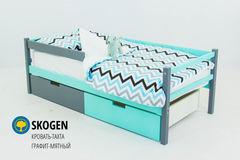 Детская кровать Детская кровать Бельмарко Skogen графит-мятный