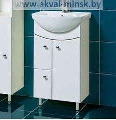 Мебель для ванной комнаты Акваль Тумба с умывальником Порто 50 - 2