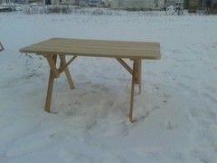 DomPlus Стол из лиственницы сибирской (0,7х1,5 м)