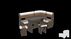 Кухонный уголок, диван ТриЯ Уют-1 К ЛЮКС МФ-101.004 (Венге, Кож.зам: «Санчо»/Коричневый)