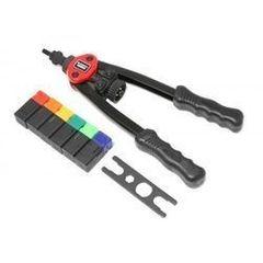 Столярный и слесарный инструмент Forsage Forsage Заклепочник двуручный резьбовой усиленный со шкалой затяжки от 0-10мм(L - 380мм, резьбовые адаптеры - М3, М4, М5, М6, М8, М10, М12) F-67805