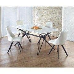 Обеденный стол Обеденный стол Halmar Pascal раскладной (бело-черный)