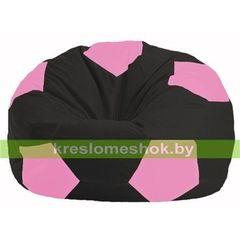 Бескаркасное кресло Бескаркасное кресло Kreslomeshok.by Мяч М 1.1-469 чёрный - розовый