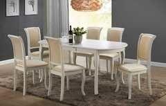 Обеденный стол Обеденный стол Avanti Classi Alicante White (6 стульев)