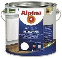 Эмаль Эмаль Alpina Heizkoerper (белый) 2,5л
