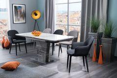 Обеденный стол Обеденный стол Signal Ilario 140 раскладной (белый лак/бетон)