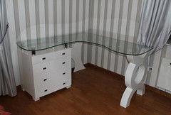 Письменный стол Mago Со стеклянной столешницей