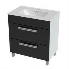 Мебель для ванной комнаты Triton Тумба напольная Ника-75 черная
