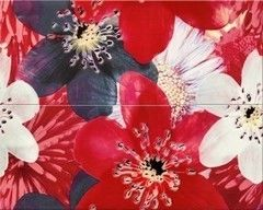 Плитка Плитка Opoczno French Lake Flower Centro Red 40x50