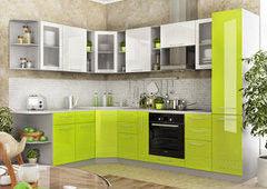 Кухня Кухня ДСВ Мебель Олива бело/салатовая