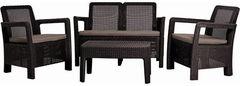 Комплект мебели из ротанга Keter Tarifa Lounge set коричневый