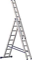 Лестница  Лестница-стремянка Алюмет трехсекционная универсальная 5310 3x10