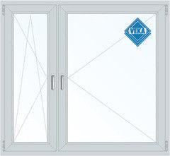 Окно ПВХ Veka 1460*1400 1К-СП, 5К-П, П/О+П