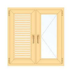 Деревянное окно Сосна слуховое, в/с, Модель 1