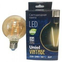 Лампа Лампа Uniel LED-G95-4W/GOLDEN/E27/CW GLV21GO