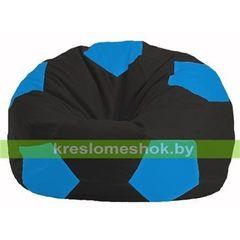 Бескаркасное кресло Бескаркасное кресло Kreslomeshok.by Мяч М 1.1-395 чёрный - голубой