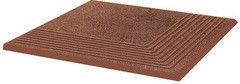 Клинкерная плитка Клинкерная плитка Ceramika Paradyz Taurus Brown ступень рельефная угловая 30x30