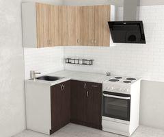 Кухня Кухня Хоум лайн Агата угловая 1.2x1.2 (венге/дуб сонома)