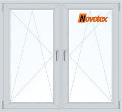 Окно ПВХ Novotex 1460*1400 2К-СП, 5К-П, П/О+П/О