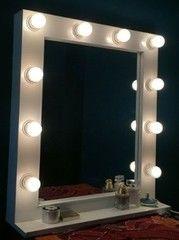 Зеркало Roofix гримерное с полкой GZp (10 ламп)