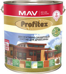 Защитный состав Защитный состав Profitex (MAV) для древесины (3л) красное дерево
