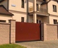 Alutech Въездные ворота откатные Вариант 7в