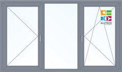 Алюминиевое окно Alutech W62 2060*1420 2К-СП П/О+Г+П