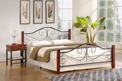 Кровать Кованая кровать Halmar Violetta 160/200 (античная черешня/черный)