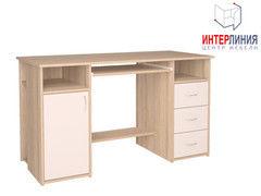 Письменный стол Интерлиния СК-007 Дуб сонома+Белый
