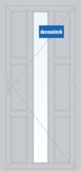 Дверь ПВХ Дверь ПВХ Deceuninck Фаворит Спэйс 900*2100 2К-СП одностворчатая Модель 6