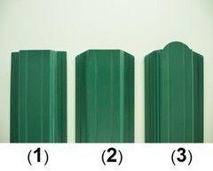 Забор Забор Изомат-Строй Штакетник 115 мм двусторонний полиэстер / порошковая окраска