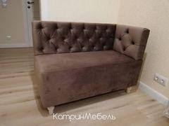 Кухонный уголок, диван Сердживани Прямой (коричневый)