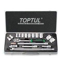 Столярный и слесарный инструмент Toptul Набор торцевых головок GCAD1802