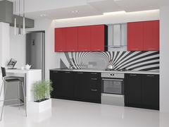 Кухня Кухня Артем-мебель Оля ДСП (черный/красный)