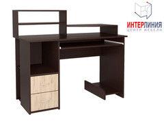 Письменный стол Интерлиния СК-009 Дуб венге+Дуб серый