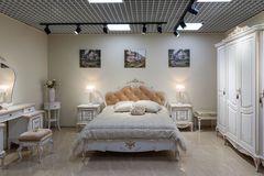Спальня Мебель Черноземья Барокко (белый с золотой патиной)