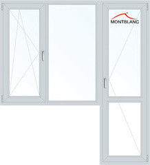 Окно ПВХ Montblanc Nord В 1860*2160 2К-СП, 4К-П, П/О+Г+П