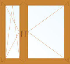 Деревянное окно Лиственница 1460*1400, в/с, П/О+П