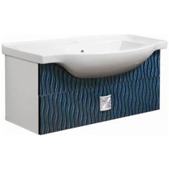 Мебель для ванной комнаты Калинковичский мебельный комбинат Тумба Магия 1Я КМК 0448.1 (ночная волна)