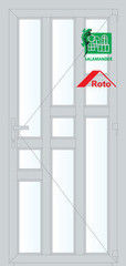 Дверь ПВХ Дверь ПВХ Salamander 2D 900*2100 одностворчатая Модель 41